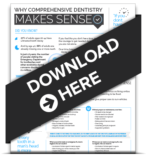 Download Rudnick's Palm Beach Gardens Infographic: Why Comprehensive Dentistry Makes Sense