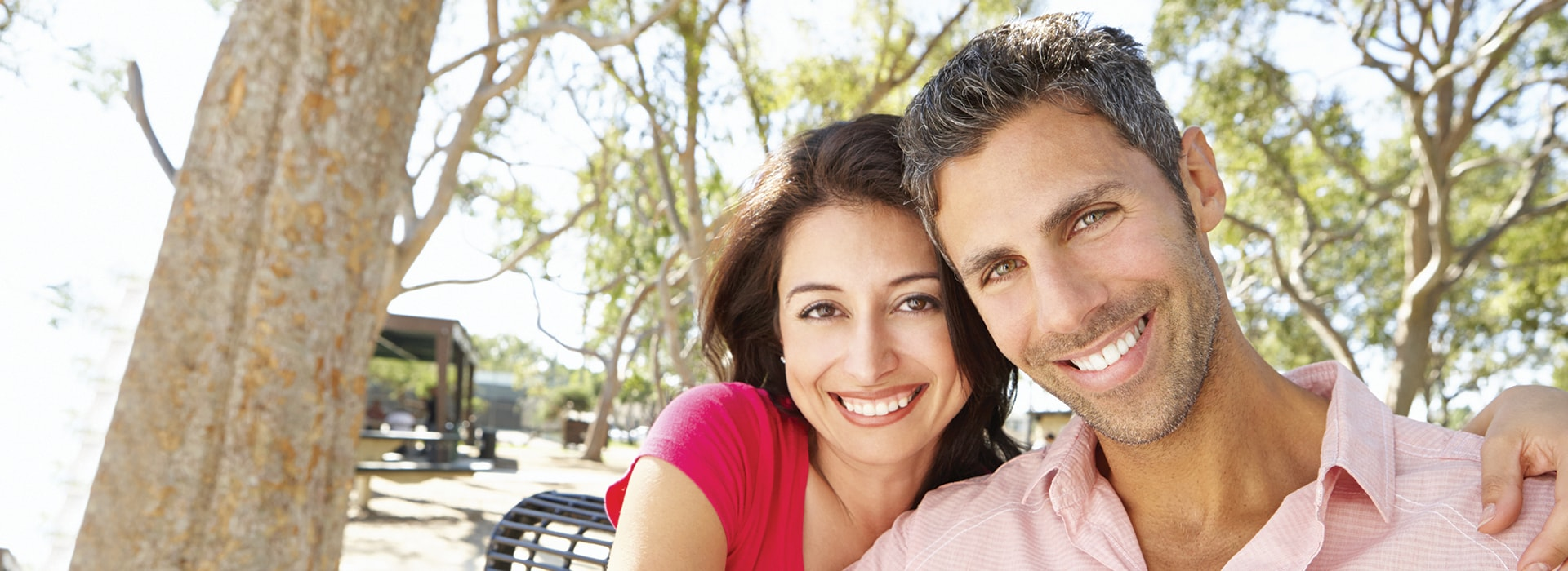 A couple who are smiling thanks to Palm Beach Gardens Cosmetic Dentistry