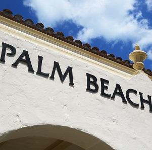City wall with Palm Beach Inscription