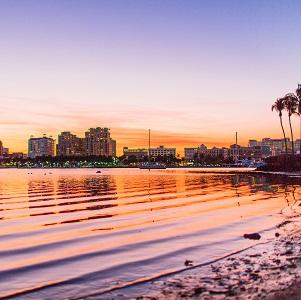 A Palm Beach Garden Sunset